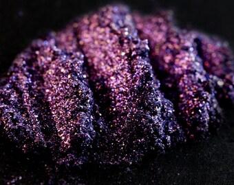 Eye Shadow Num. 61 Twilight – Vegan Blue & Violet Ultra Shimmer Mineral Eye Shadow  Mineral Pigment Blurple Loose Glitter Eyeshadow