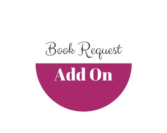 Book Request Add On for Vintage Styled Paper Flowers