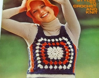 Knit & Crochet Tops Seven Styles to Knit and Crochet by Columbia-Minerva Groovy tops and vests Boho Hippie