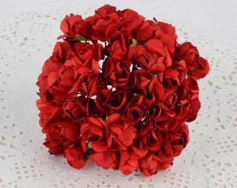 Red Paper Roses-2 bundles (24 roses)