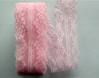 """Pink Lace-38mm-(1.50"""")-3 YDS  #L38-03"""
