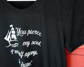Jane Austen Persuasion  - Literary T- Shirt - Captain Wentworth Proposal Quote - JAT002