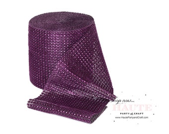 Rhinestone Mesh-Royal Purple (Read or Contact Us First)
