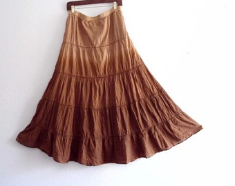 Gypsy Cotton tiered Maxi skirt
