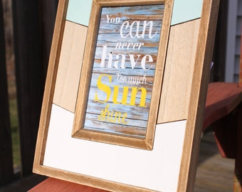 """Custom Engraved 4""""x6"""" Wood Frame (Engraving Included)"""
