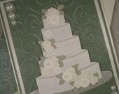 Wedding Card, Bridal Shower Card, Wedding Cake Card, Happy Wedding Day, Handmade Wedding Card