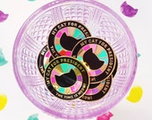 SECONDS SALE ~ Purrfectly Impurrfect Pin ~ President (Black)