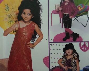 ROCKER GIRL COSTUME Pattern • Simplicity 5354 • Girls 3-8 • Model & Geisha Girl • Sewing Patterns • Childrens Costumes • WhiletheCatNaps