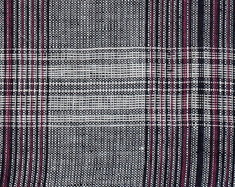 Plaid linen fabric by yard