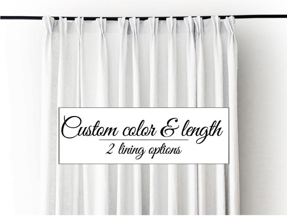 Curtain, pinch pleat curtains, Linen drapes, Blackout curtain, day ...