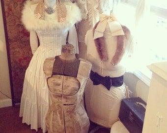 Vintage Tattered Worn Dress Form