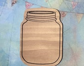 Large MASON JAR Stamp Wooden Mounted Rubber Valentine Card Scrapbook Wood Craft Crafts Wedding Invitations DIY projects recipe cards New
