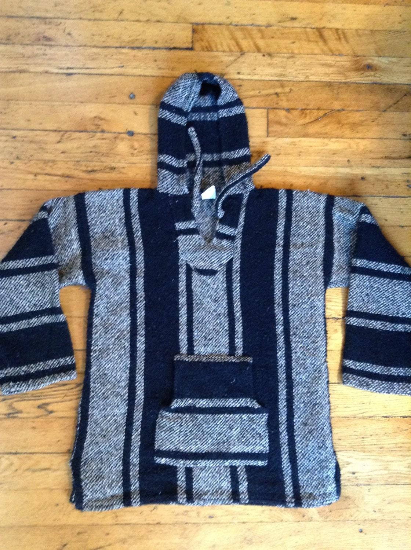 Vintage Baja blanket drug rug hoodie by littleshopofmatthews