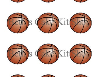 Basketball Cupcake Topper DIY Printable Download
