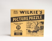 "Vintage Wilkie's No. 116 ""Going Places"" Jig-Saw Picture Puzzle"