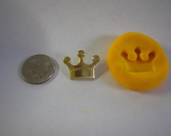 Pretty KINGS CROWN flexible Mold for Soap, Candy, Food, Wax , Resin, Plaster polymer clay mold