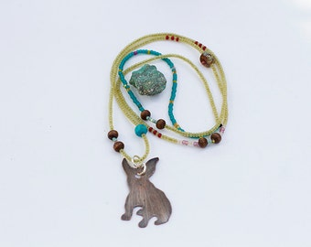 Frenchie Beaded Necklace