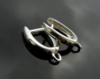 HIGHT QUALITY Sterling Silver Lever Backs Ear Hooks Earwires Silver 925 1 PAIR Nickel Free