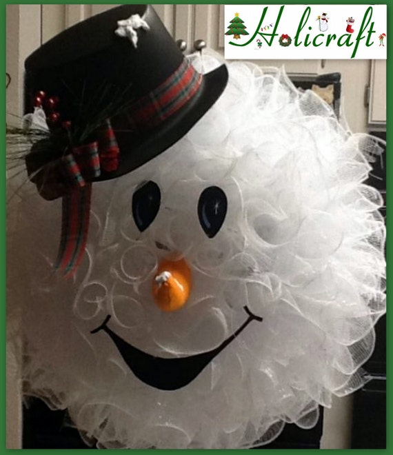 Snowman Head Mesh Wreaths Page Two