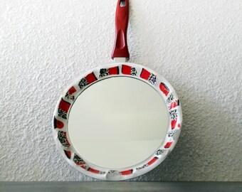 Mosaic fry pan mirror