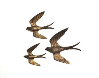 Vintage Burwood Swallows Wall Hangings