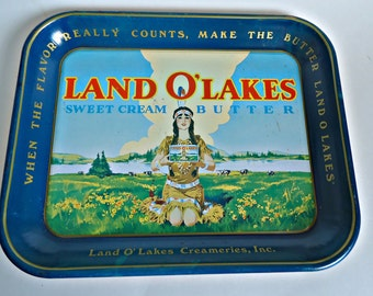 Vintage Land O'Lakes Serving Tray