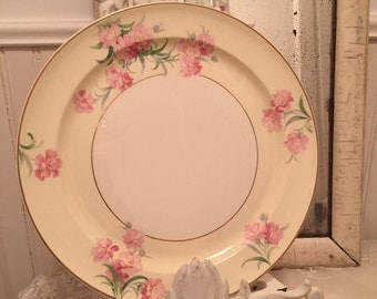 Lot of 7 Taylor smith taylor 9482 lot of 7 of my most fav plates ever! Mint condition creamy taupish pink omg!! Think vintage wedding!!