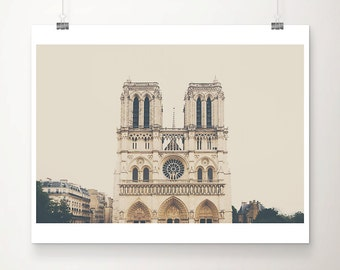 Paris photograph Notre Dame photograph Paris decor Paris print Cathedral photograph Notre Dame print architecture photo