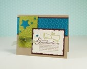 Congratulations On Your Graduation -  Handmade Graduation Card - Grad Card - High School Graduation - Blank Greeting Card - Card For Him