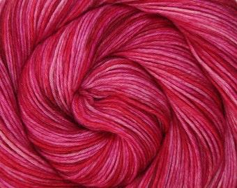 sw wool nylon sport yarn HEARTACHE 3.5oz 306 yards hand dyed