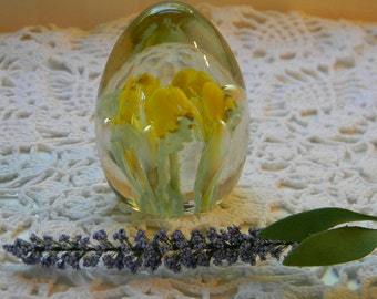 Vintage Blown Glass Paperweight