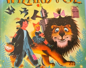 Vintage  The Wizard of Oz Book 1950s