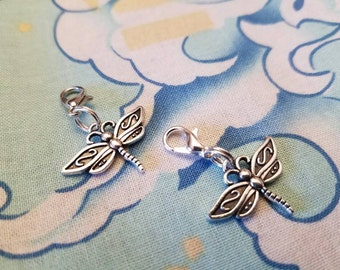 Silver Dragonfly Zipper Pulls
