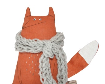 Fox Softie, Fox Plushie, Fox Stuffed Toy, Fox Handmade Doll, Fox Art Doll, Fox Handmade Toy, Fox Soft Sculpture, Fox Cuddly Toy, Toy Fox