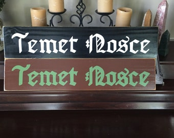 TEMET NOSCE Know Thyself Wall SOCRATES Quote As Seen On The Matrix Plaque Wooden Sign You Pick Color Knowledge and Wisdom Latin Phrase