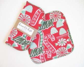 Cloth Napkins--Set of 4--Vintage Christmas Candies--Regular--Ready to Ship