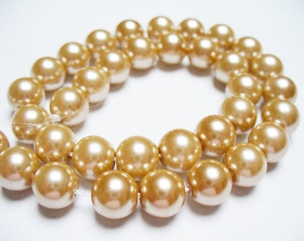 Glass Pearl Gold 8MM