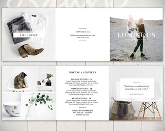 Photography Tri-fold Brochure Template: Luminous - 5x5 Business Marketing Brochure