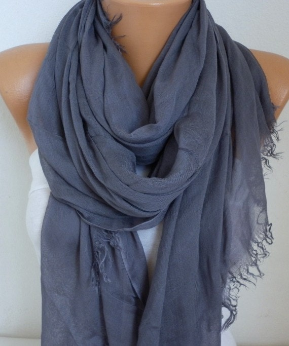 Foggy Gray Cotton Soft Scarf,Teacher Gift,Summer Scarf,Pareo,Shawl,Oversized Scarf, Cowl Scarf Gift Ideas for Her Women Fashion Accessories