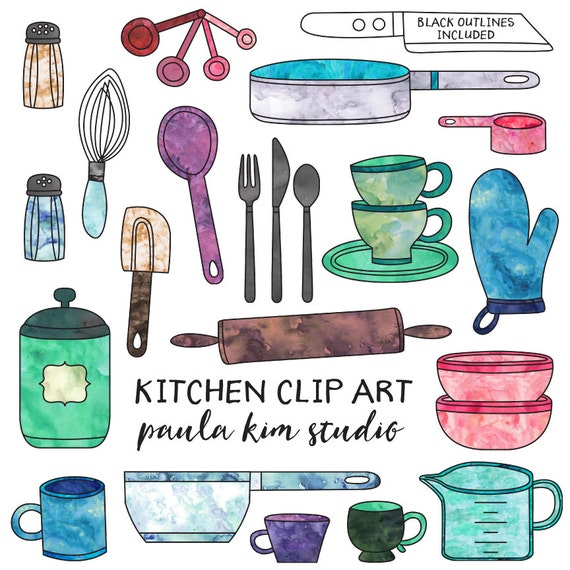 Digital Download Kitchen Clipart, Commercial Use Kitchen