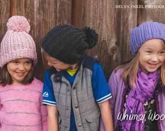 Slouch Crochet Hat Pattern: Slouchy Hat, Family Crochet, Winter Fashion, 'Ribbed Slouch Hat'