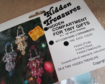 Bead and Sequin Christmas Ornament Kit   Hidden Treasures   New Old Stock