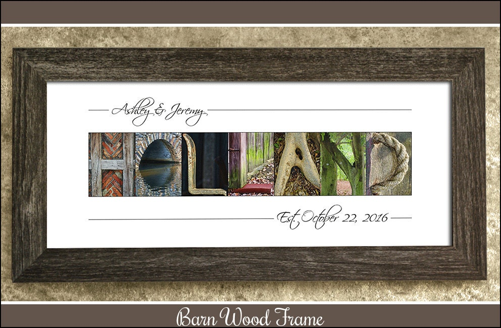 Rustic Wall Decor Alphabet Photography Barn Wood Frame Last