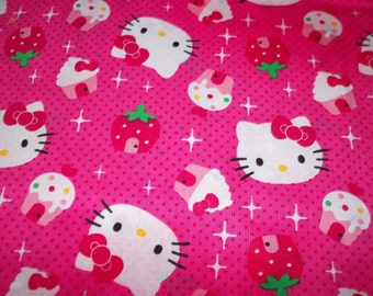Hello Kitty Fabric Cupcake  New By The Fat Quarter BTFQ