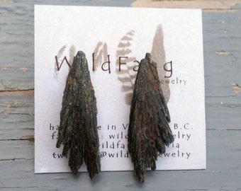 BLACK KYANITE BURST Stud Earrings