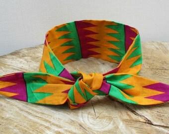 Kente headband, African Print headband, Hairband, Hair accessory