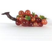 retro lucite grape acrylic grape lustre amber orange