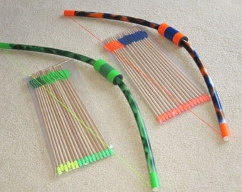 Camo large pvc bow and 8 arrows with quiver safe by for Kids pvc bow