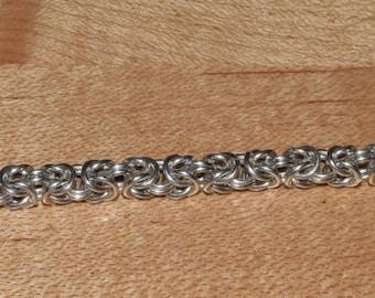 Sterling Silver Chain-Maille Byzantine Bracelet