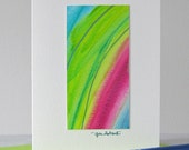 Aquarelle Art Notecard / / Art Original / / peinture Miniature / / Art abstrait